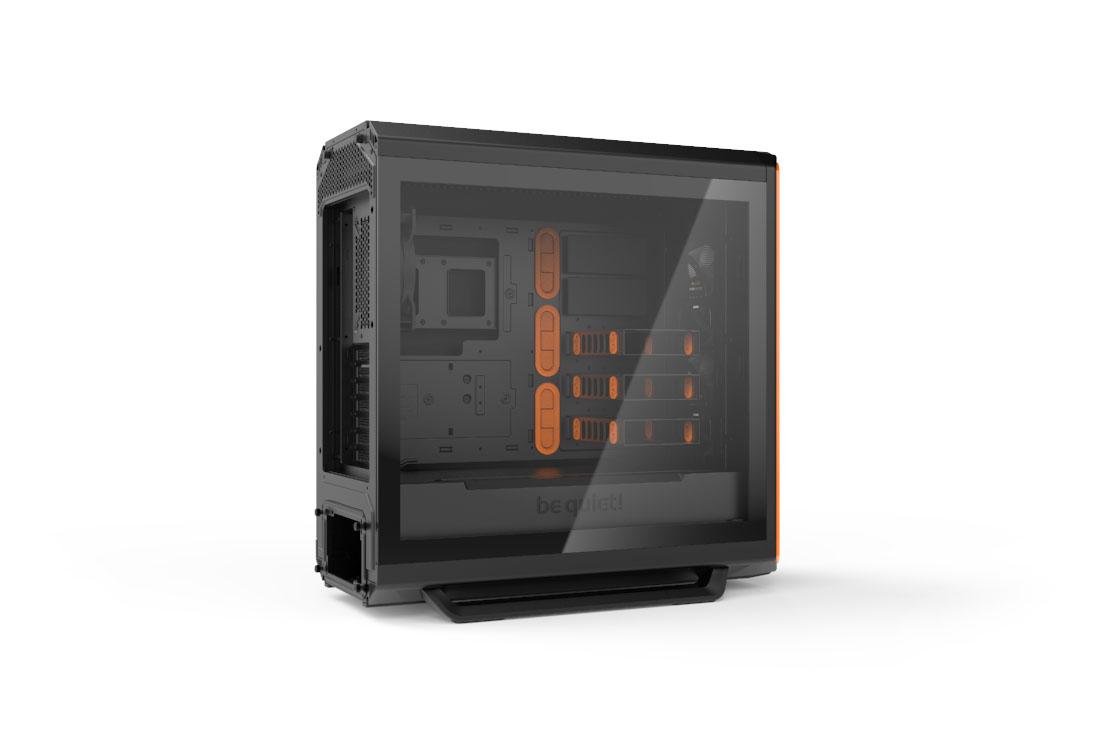SILENT BASE 801 | WINDOW ORANGE silent premium PC cases from be quiet!